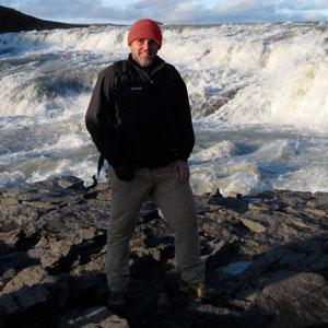 Yo en Gullfoss Islandia