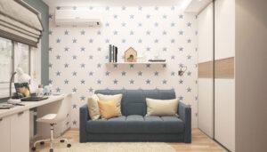 sofa en apartamento islandia