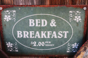 cartel Bed and Breakfast en Islandia