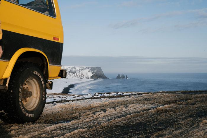 Coche 4x4 vik Islandia