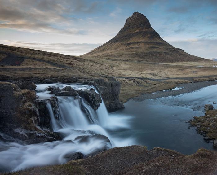 Cascada kirkjufellsfoss en Islandia