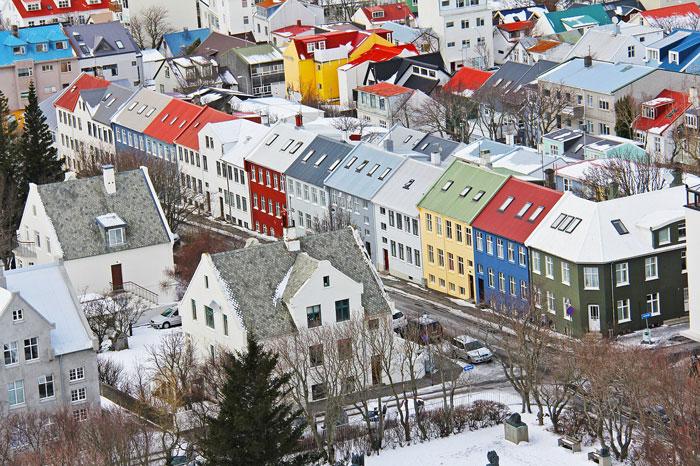 Casas colores Reikiavik