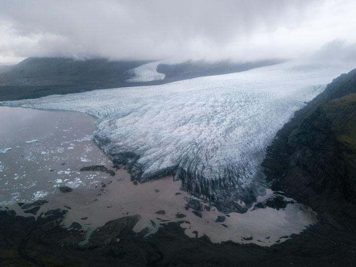 Glaciar Islandia desde avión